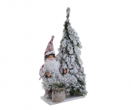 Decoratiune Snowy Santa Claus