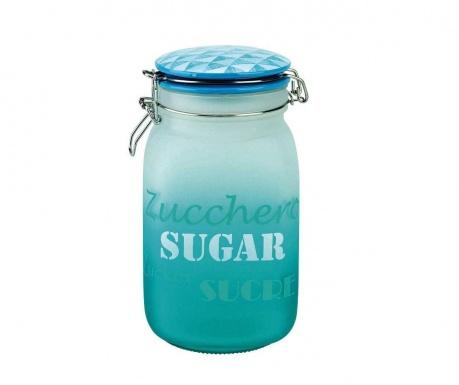 Dolce Blue Befőttesüveg hermetikus fedővel cukornak 1.6 L