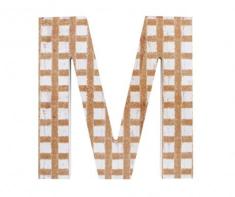 Nástenná dekorácia Letter M