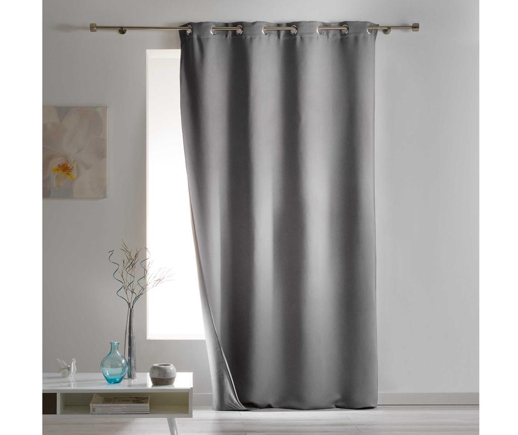 Draperie Covery Grey 140x260 cm - L3C, Gri & Argintiu