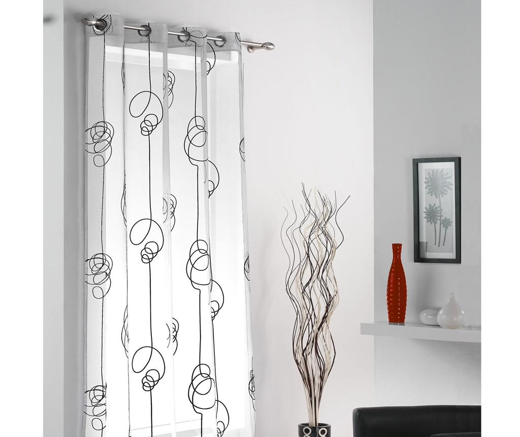 Perdea Looping White Black 140x240 cm - L3C, Alb