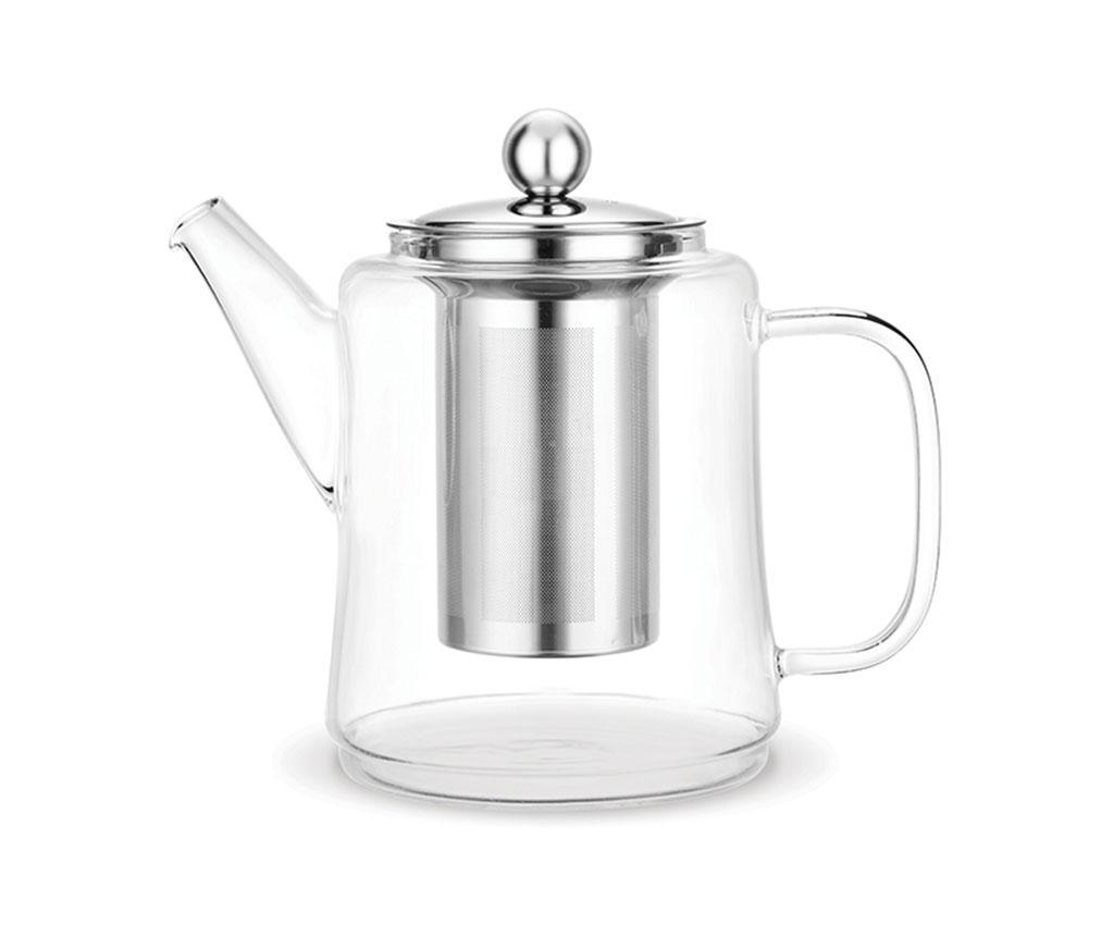 Ceainic cu capac si infuzor Angle 1 L - Luigi Ferrero, Alb