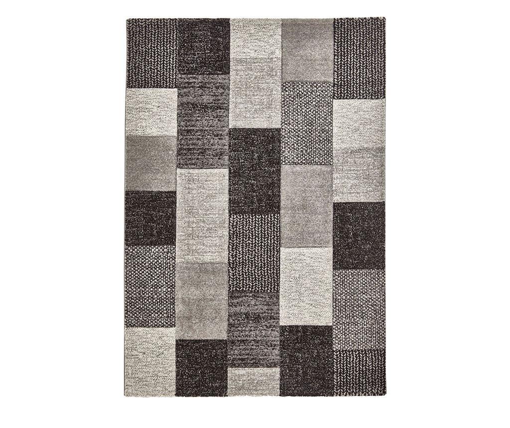 Covor Brooklyn Grey & Black 160x220 cm - Think Rugs, Gri & Argintiu