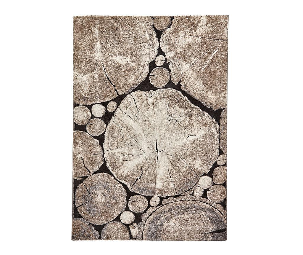 Think Rugs Covor Woodland Beige Black Crem