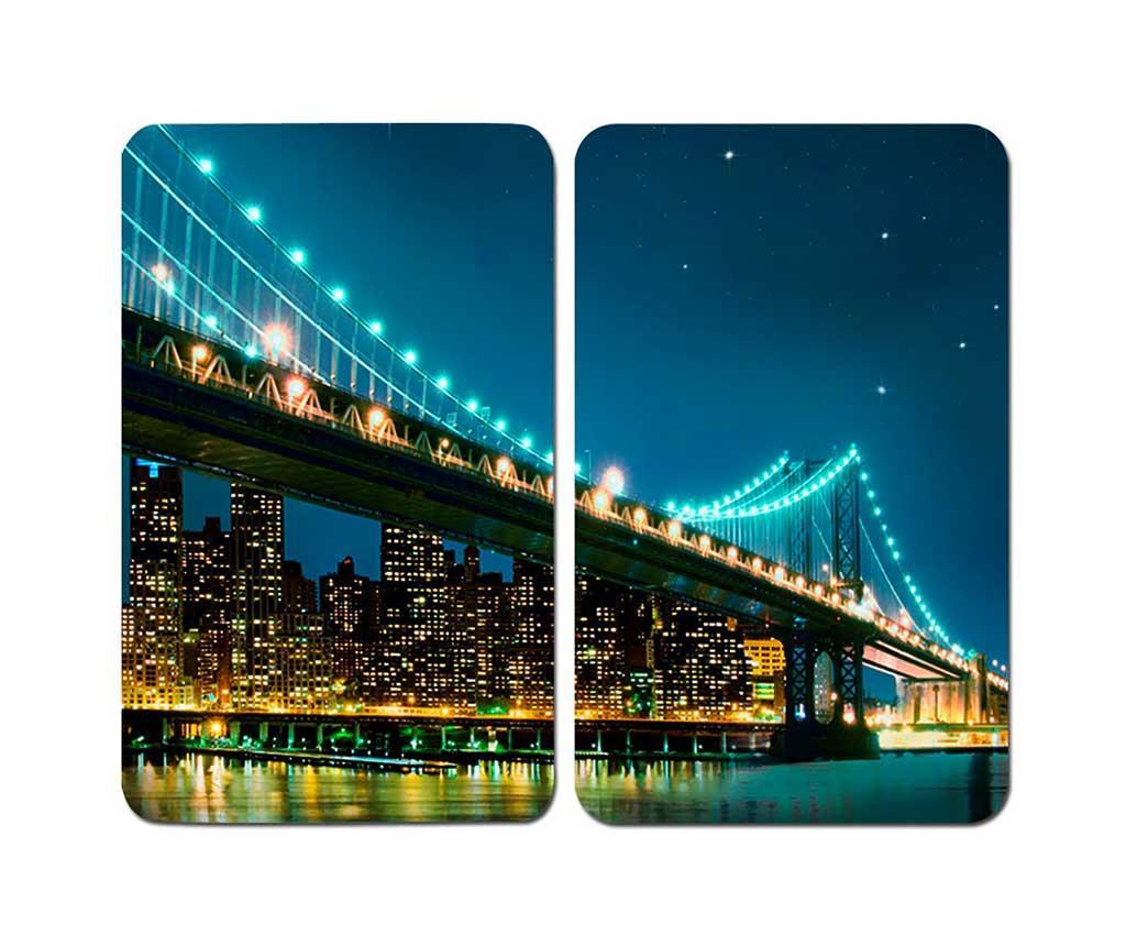 Set 2 plansete protectoare pentru plita Brooklyn Bridge - Wenko
