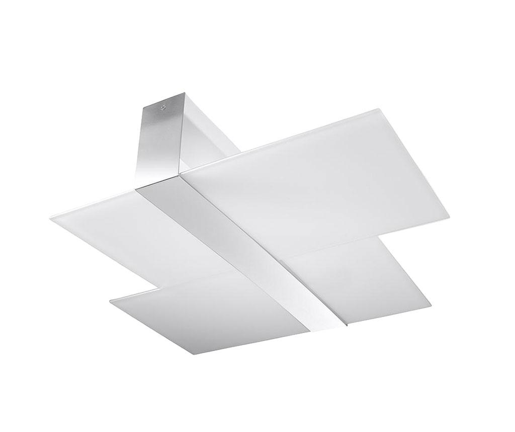 Plafoniera Leda Duo Silver Grey - Nice Lamps, Alb