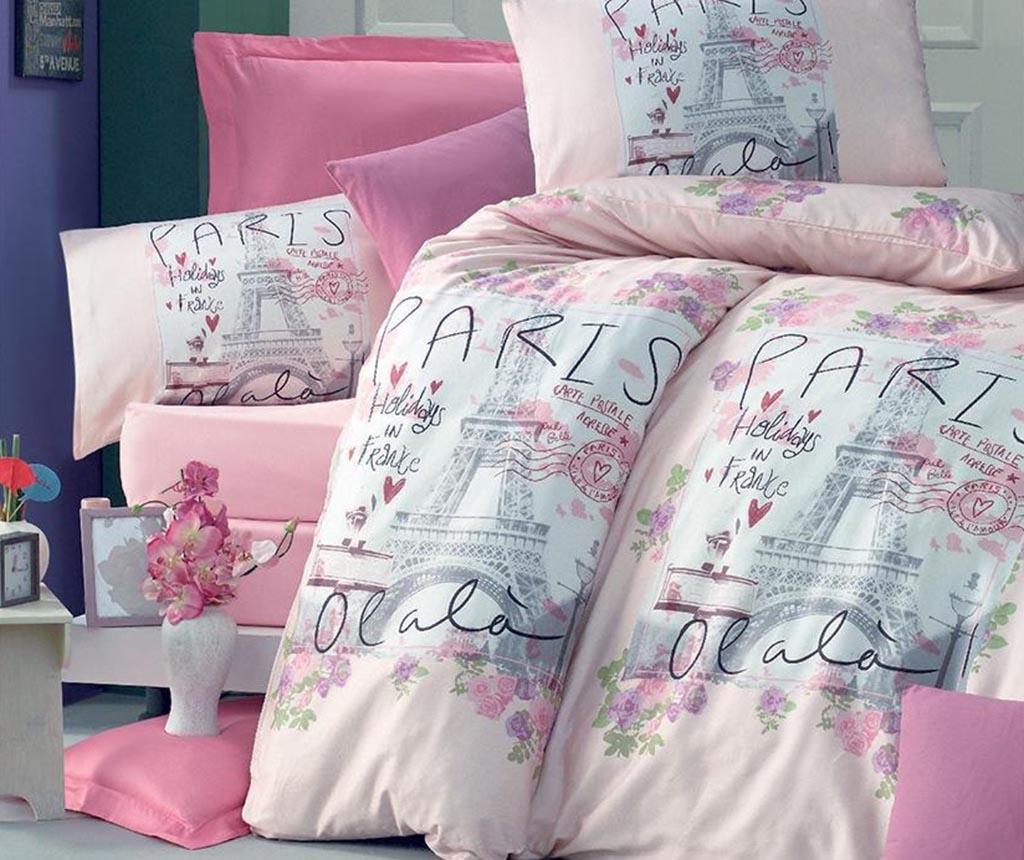 Lenjerie de pat King Ranforce Holiday Pink - Victoria, Roz imagine 2021