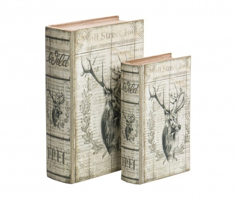 Reindeer 2 db Könyvdoboz
