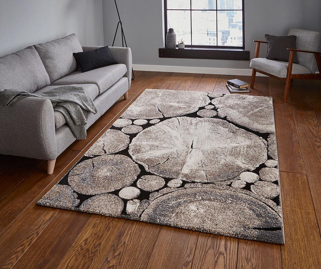 Tepih Woodland Beige & Black 120x170 cm