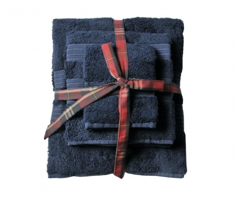 Set 3 kupaonska ručnika London Deep Blue