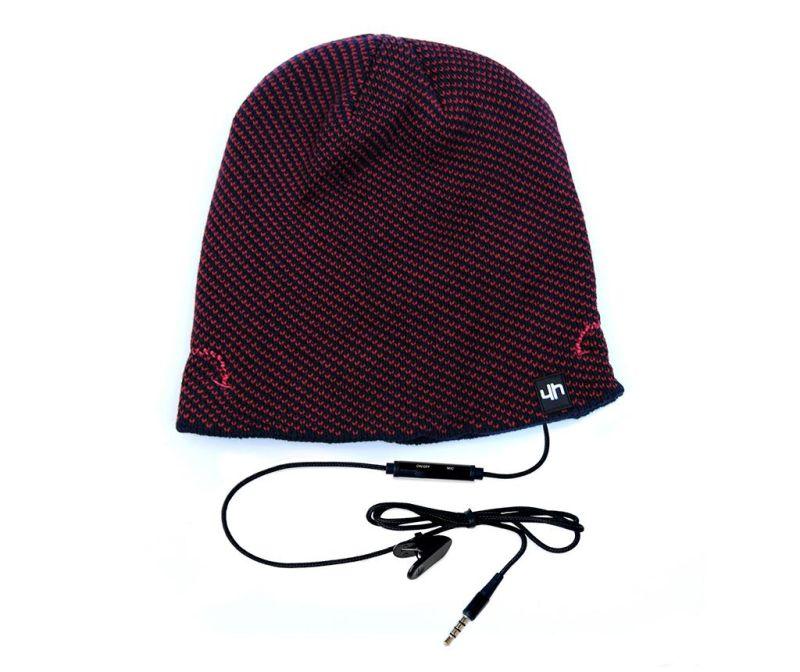 Čepice s integrovanými sluchátky hi-Head Pattern Navy Red