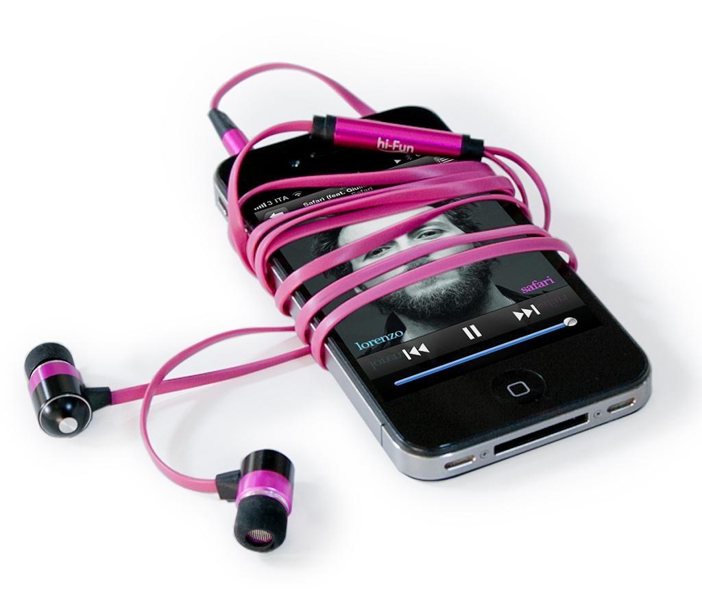 Slušalice hi-Flat Pink