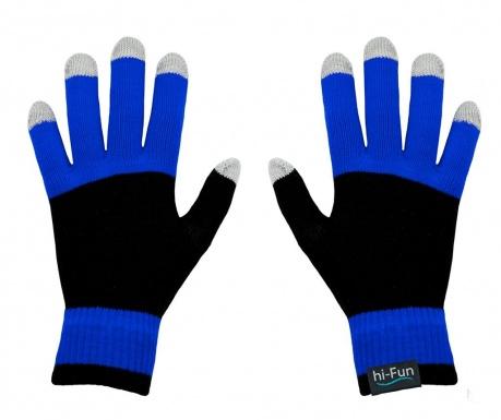 hi-Glove Knit Blue Érintőképernyős Női kesztyű
