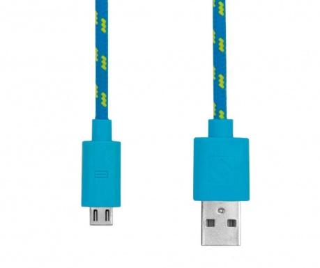 Cablu de date pentru iPhone Rope Blue