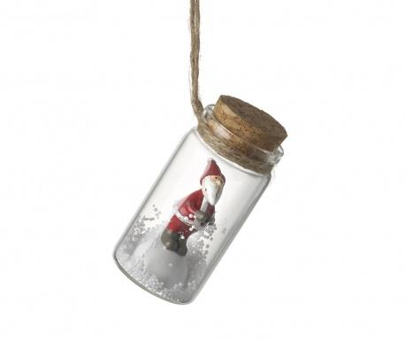 Decoratiune suspendabila Santa In Bottle