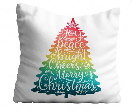 Perna decorativa Rainbow Christmas Tree 43x43 cm