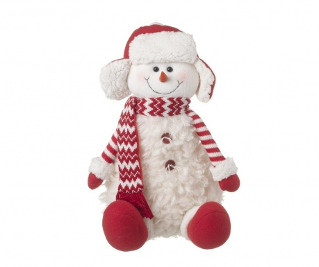 Декорация Snowman Red And White