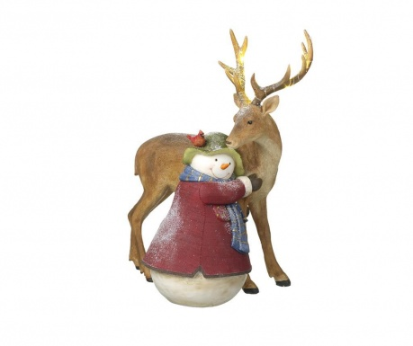 Decoratiune Snowman Love