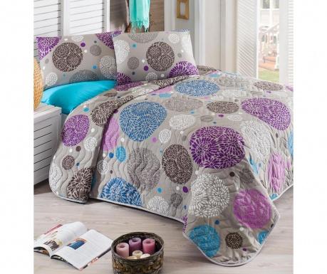 Set s prešitim posteljnim pregrinjalom Double Ibena Lilac