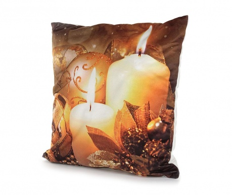 Set 2 fete de perna cu LED-uri Burning Candles 40x40 cm