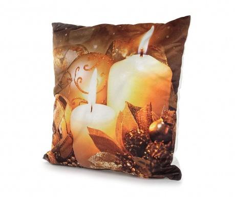Burning Candles 2 db Párnahuzat LED-del 40x40 cm