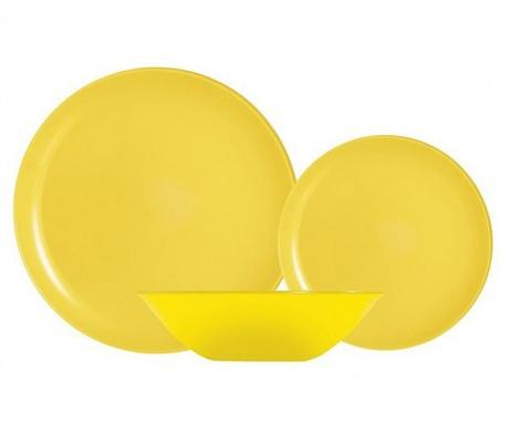 Luminarc Arty Yellow 18 darabos Étkészlet