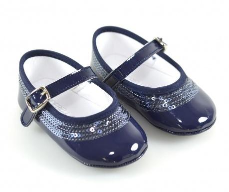 Navy Blue Balerina cipő