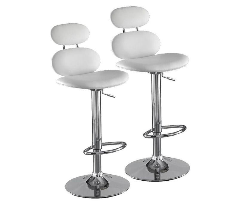 Set 2 barskih stolov Cetus White