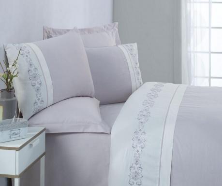Спално бельо King Satin Tilda Grey White