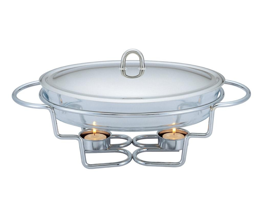 Teplá nádoba dish Black Silver 3 L