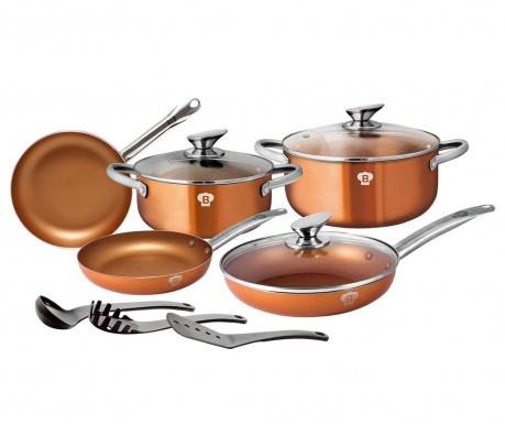 Zestaw naczyń do gotowania 11 części Royal Gold