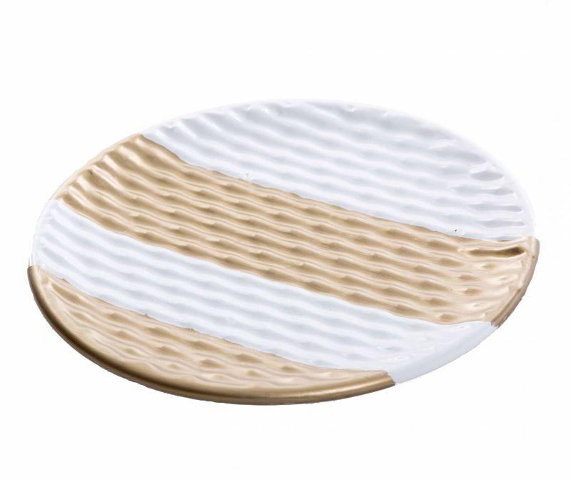 Dekoračný podnos Golden Stripes