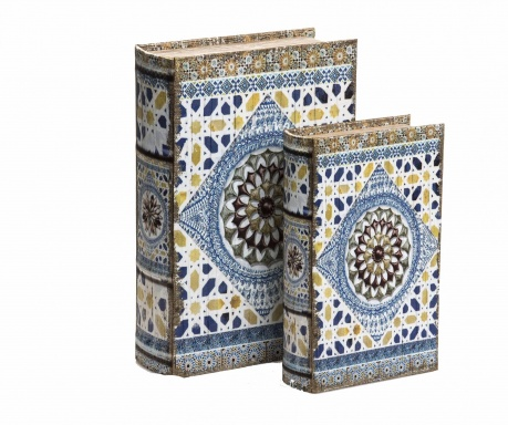 Set 2 cutii tip carte Oriental Block