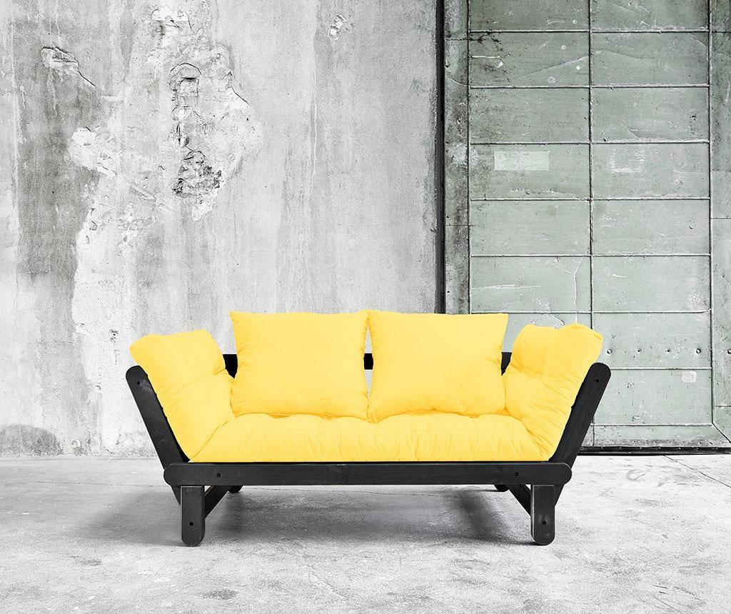 Sofa extensibila Beat Black and Yellow