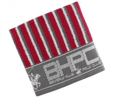 Ręcznik kąpielowy Stripes Burgundy & Grey 50x100 cm
