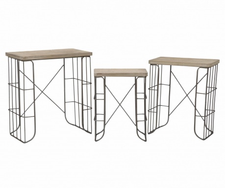 Sada 3 stolíkov Tavolinetti