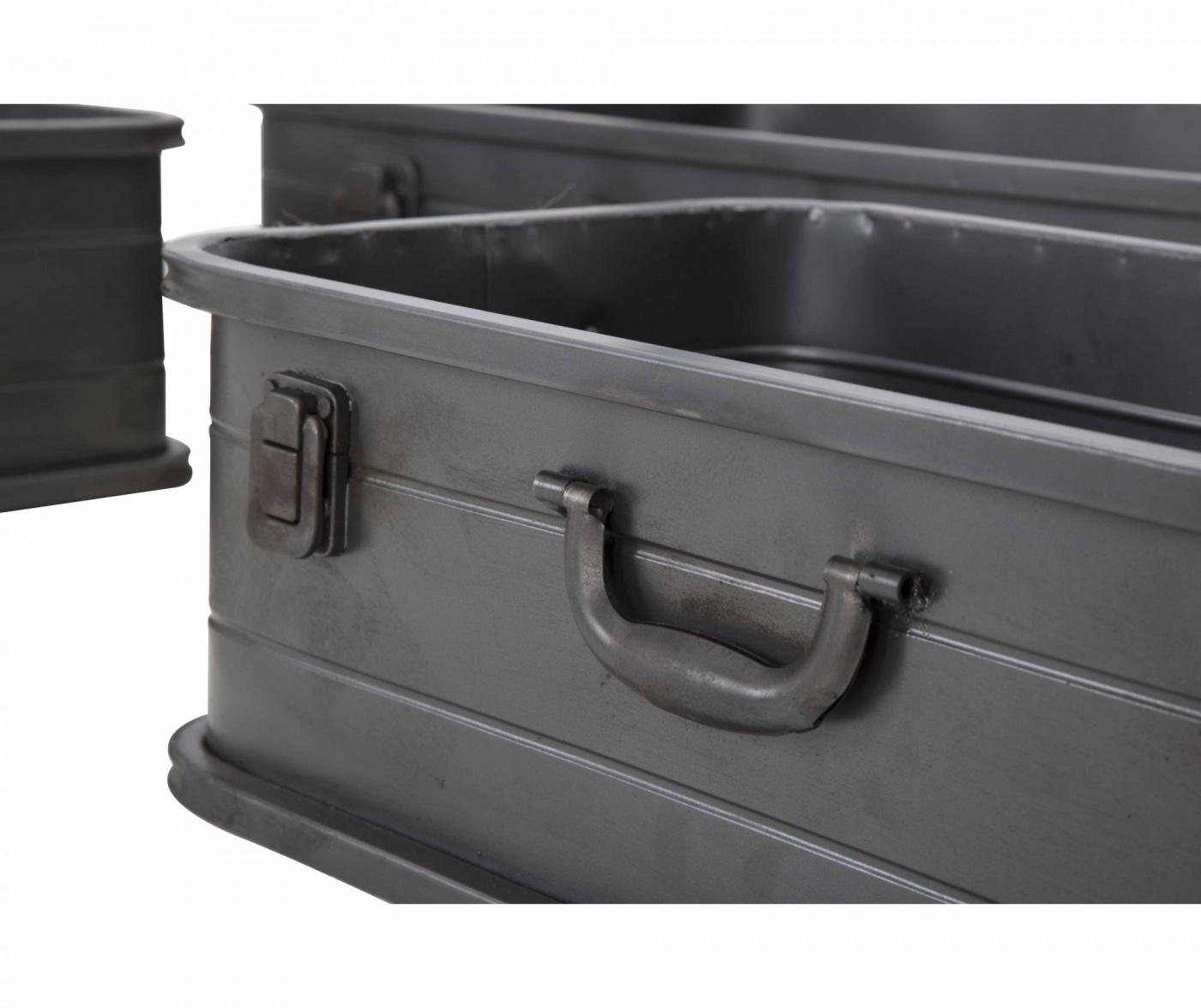 Set 3 cutii pentru depozitare Industry