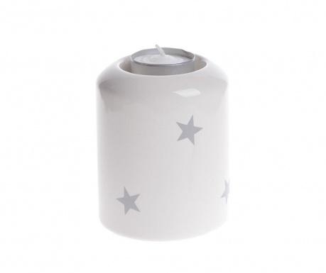 Świecznik Stars White