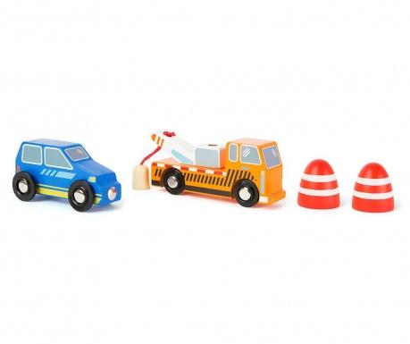 Zestaw 2 samochodziki zabawkowe i 2 akcesoria Tow Service