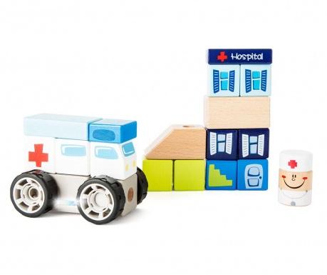 Zestaw do konstruowania 19 elementów Ambulance
