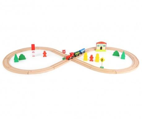 Zestaw do konstruowania 33 elementy Train Station