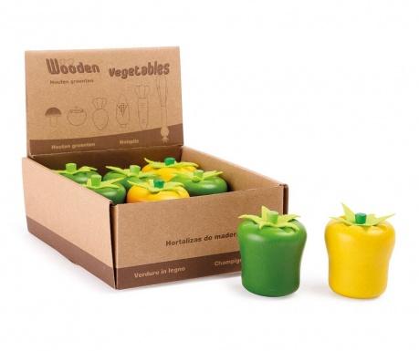 Zestaw 8 zabawkowych warzyw w pudełku Pepper