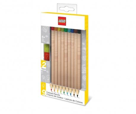 Set 9 creioane colorate Lego Style