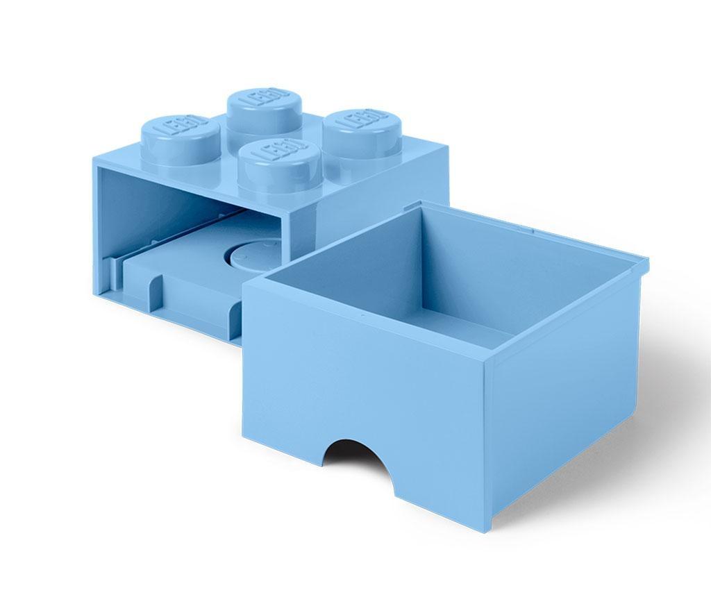 Shranjevalna škatla Lego Square One Light Blue