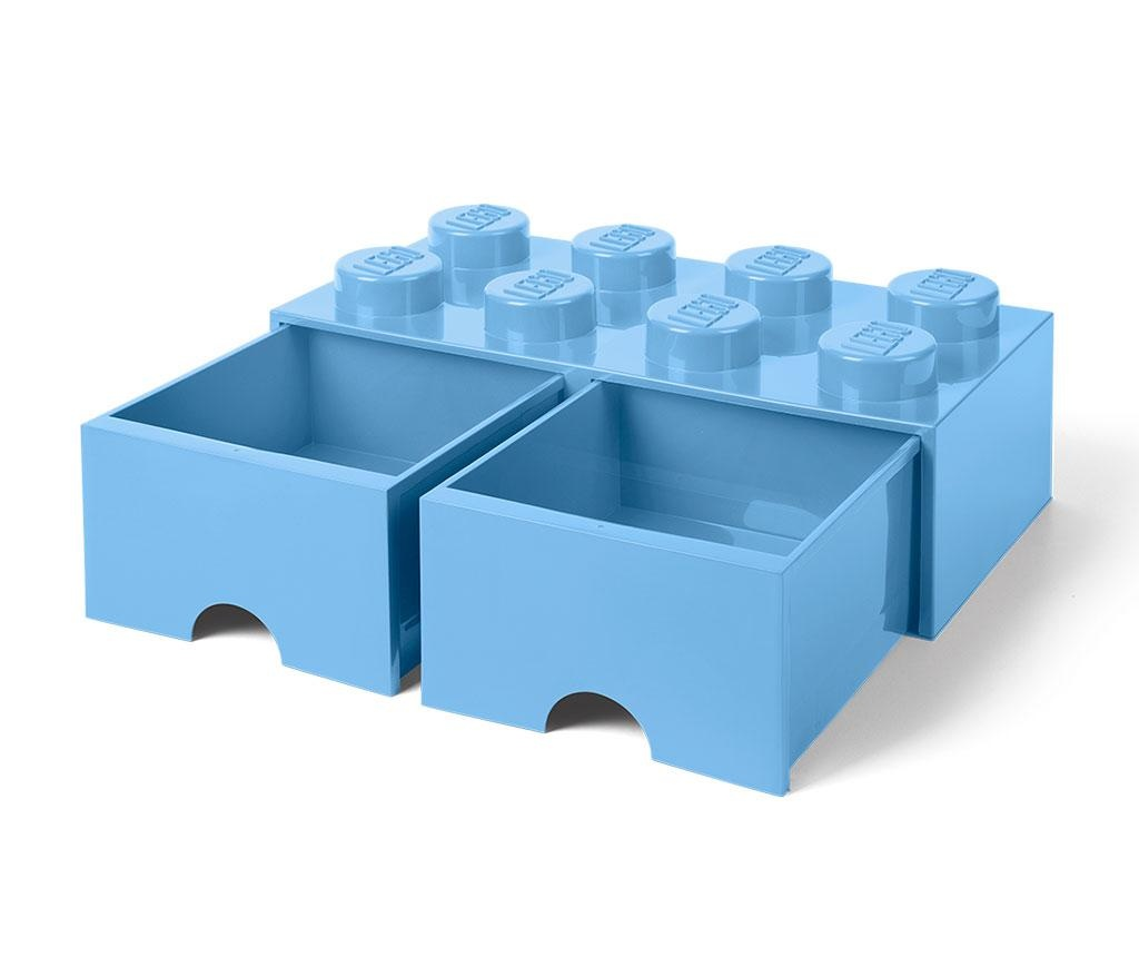 Kutija za spremanje Lego Square Duo Light Blue