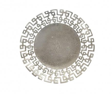 Διακοσμητική πιατέλα Silver Maze M
