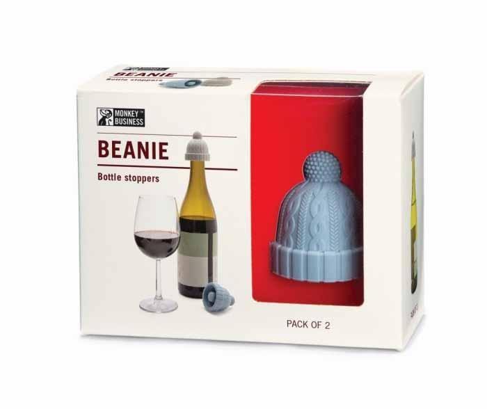 Set 2 zamaškov za steklenico Beanie Blue