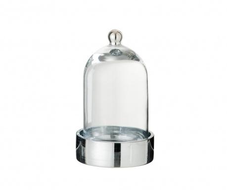 Stakleno zvono s držačem Bell Silver
