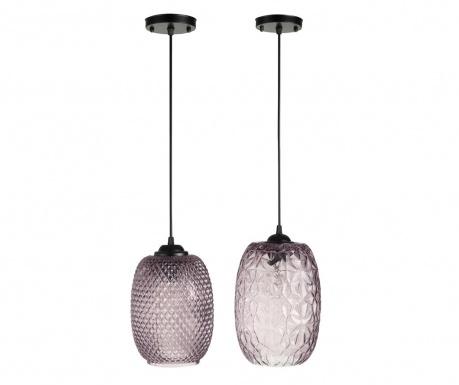 Zestaw 2 lamp sufitowych Flow Purple