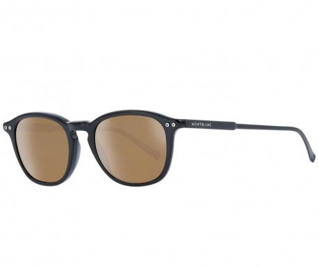 Montblanc Polarized Black Oval Férfi Napszemüveg